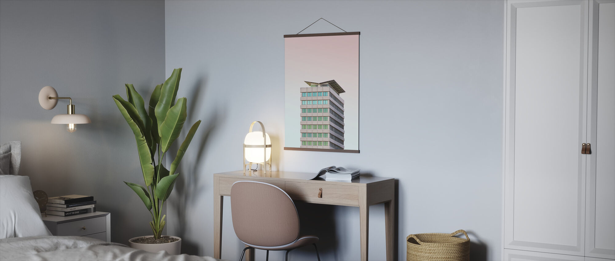 Tower Block Building - Poster - Office