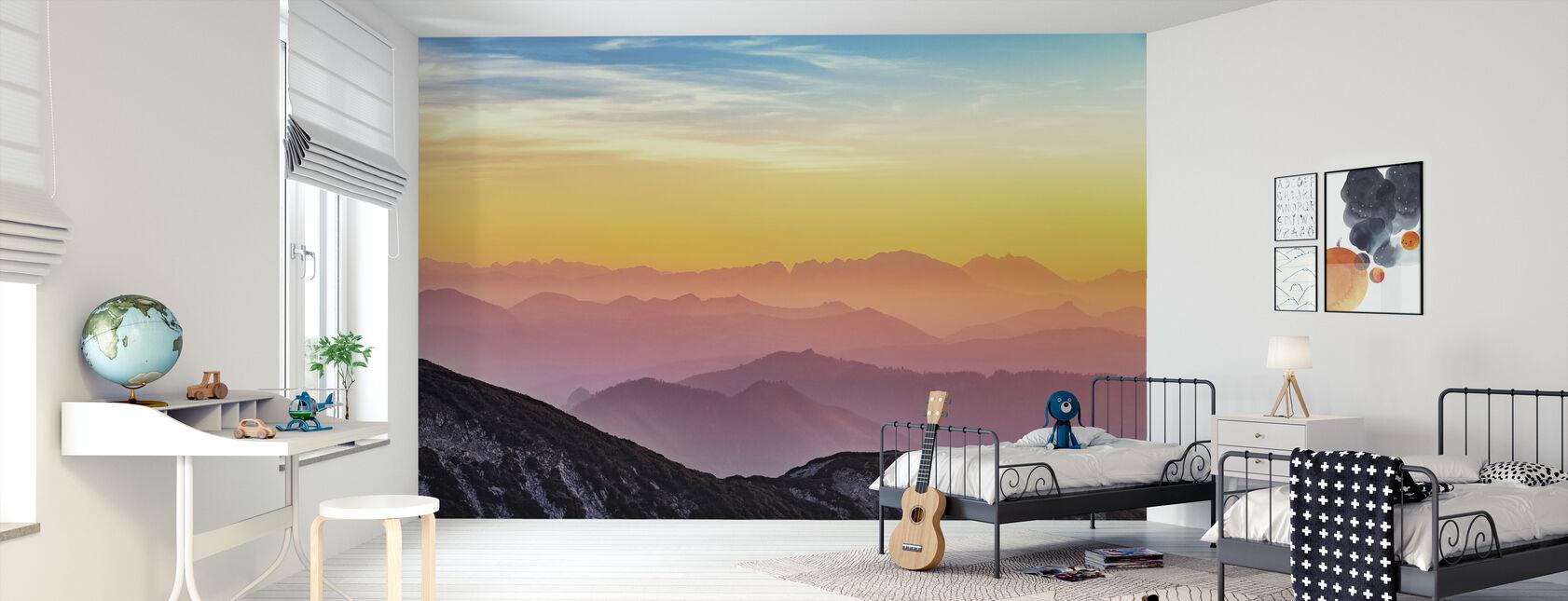 Uitzicht op de bergen - Behang - Kinderkamer