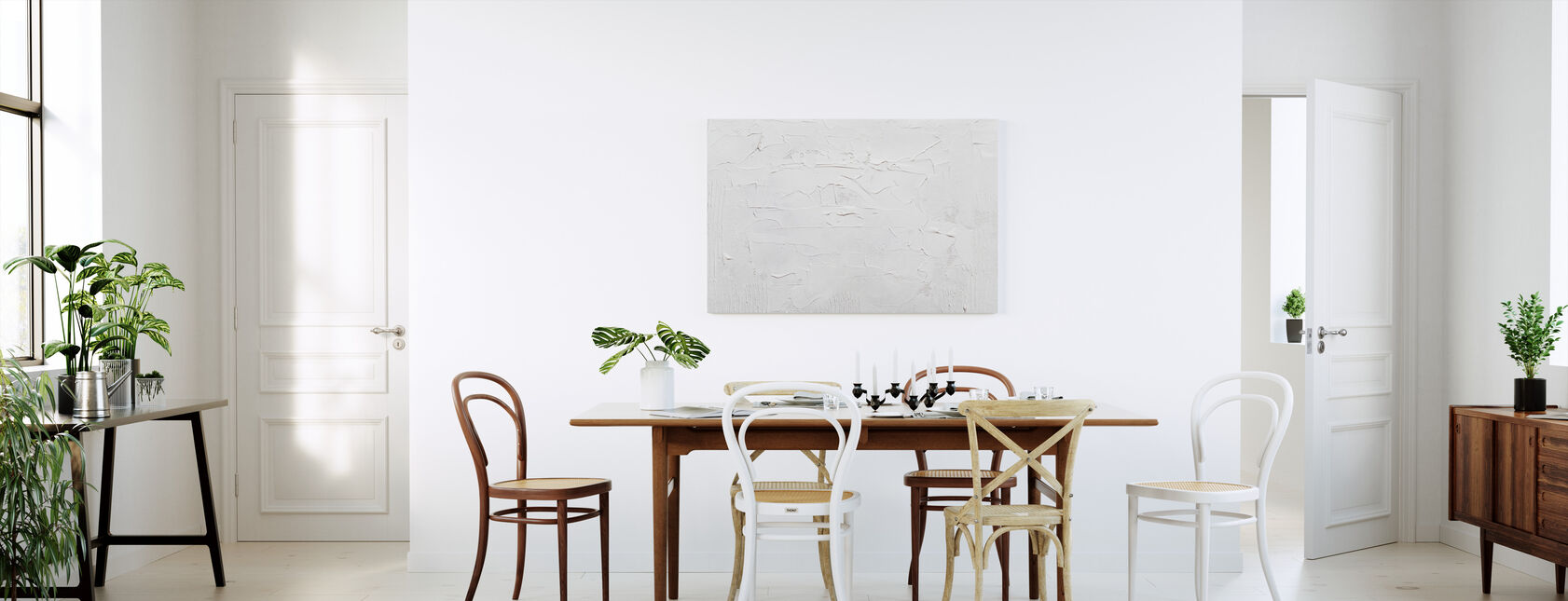 Vit bakgrund - Canvastavla - Kök