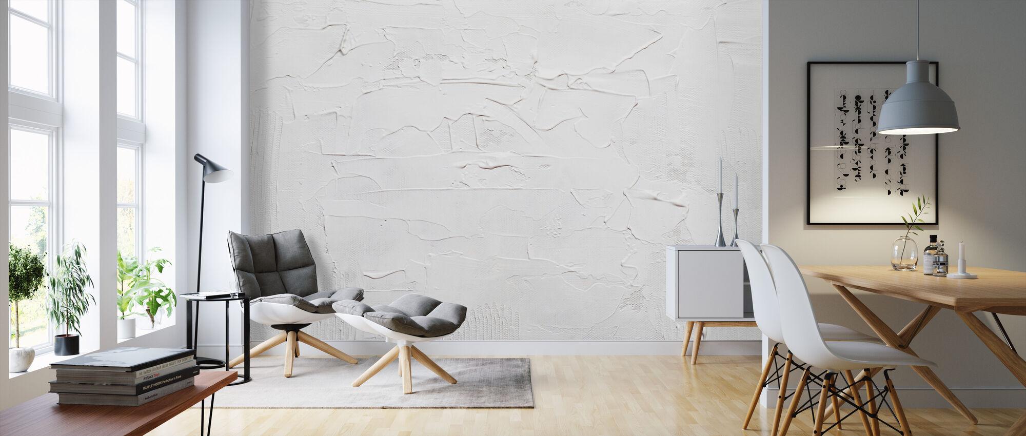 White Background - Wallpaper - Living Room