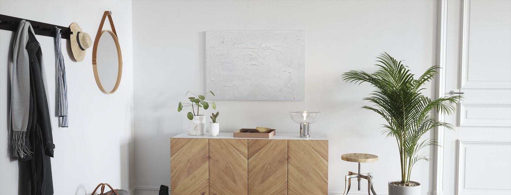 Fond blanc - Impression sur toile - Entrée
