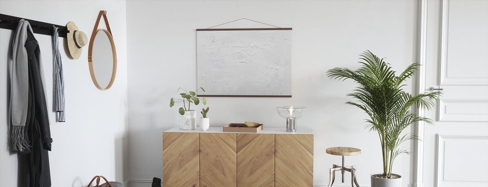 White Background - Poster - Hallway