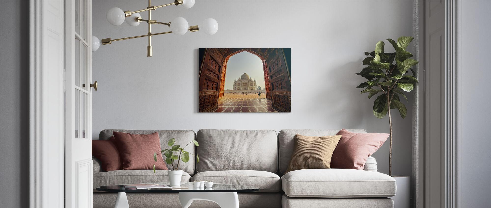 Taj Mahal - Canvastaulu - Olohuone