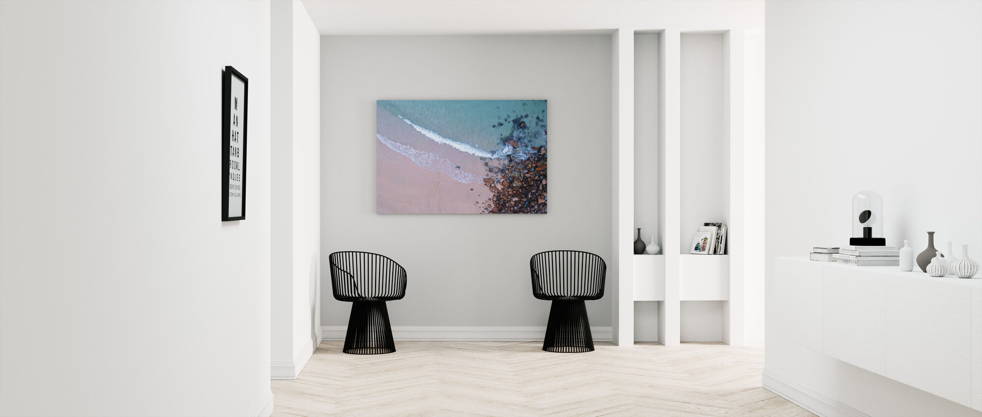 Shoreline Rocks - Canvas print - Hallway