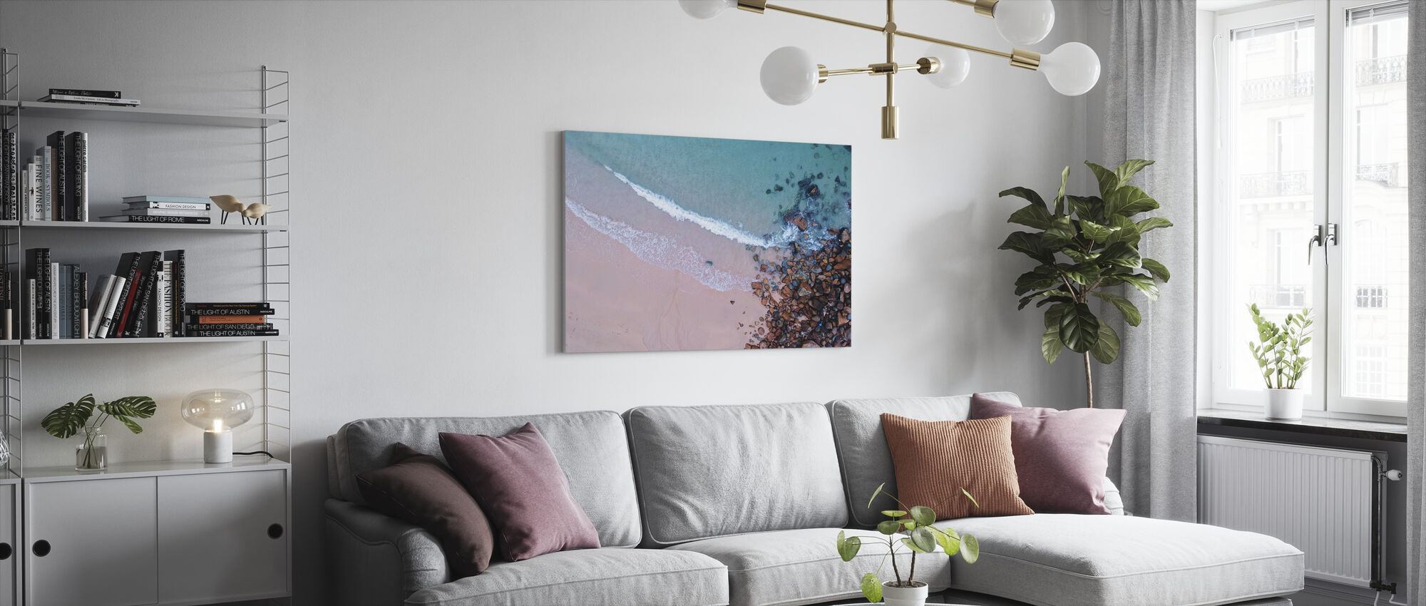 Shoreline Rocks - Canvas print - Living Room