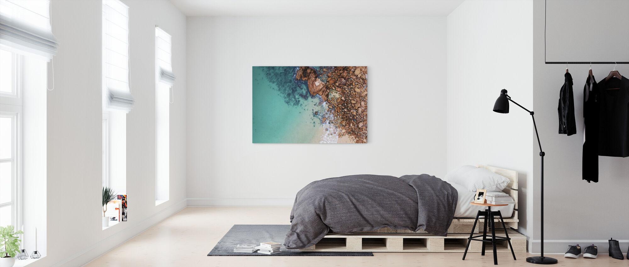 Shoreline Rocks - Canvas print - Bedroom
