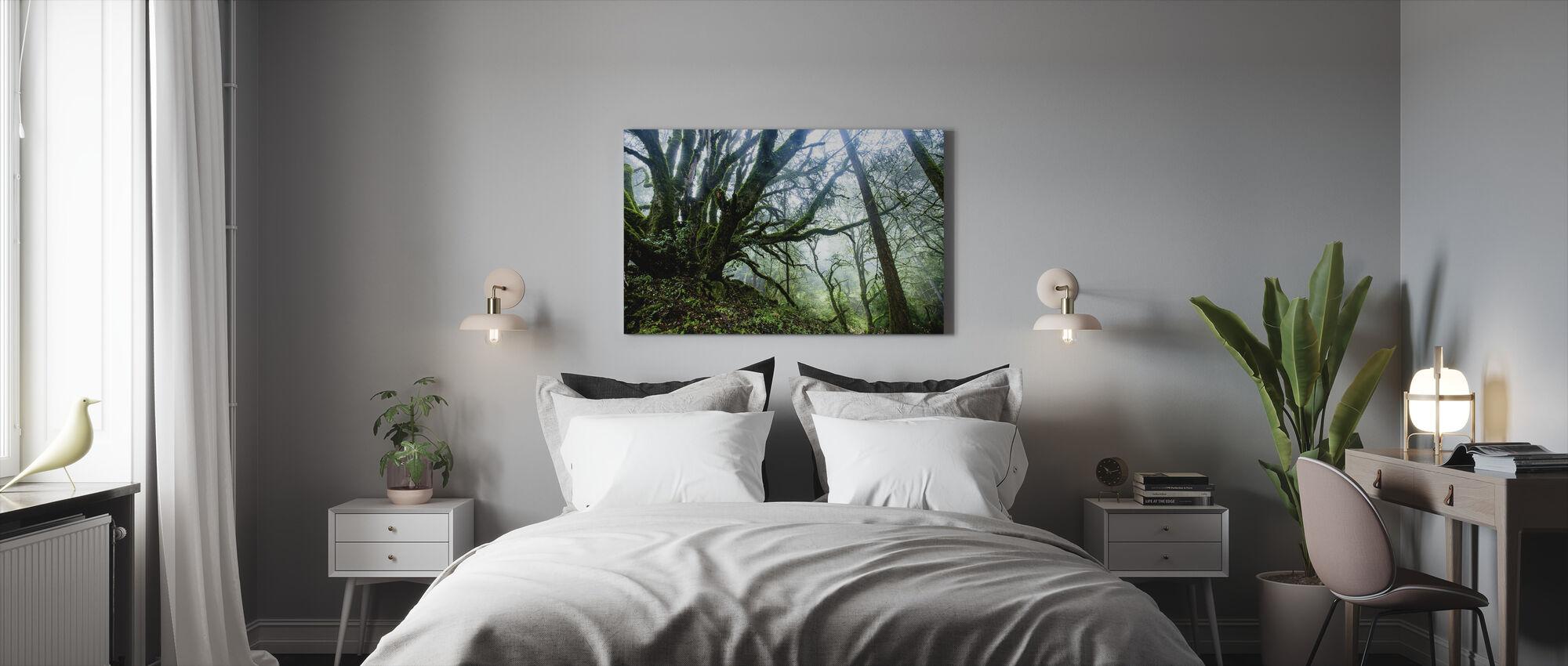Sammal puu haara - Canvastaulu - Makuuhuone