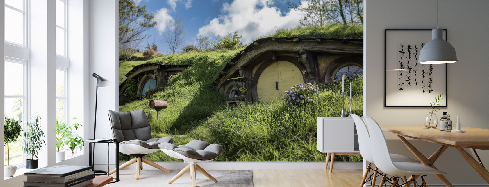 Hobbiton Movie House - Wallpaper - Living Room