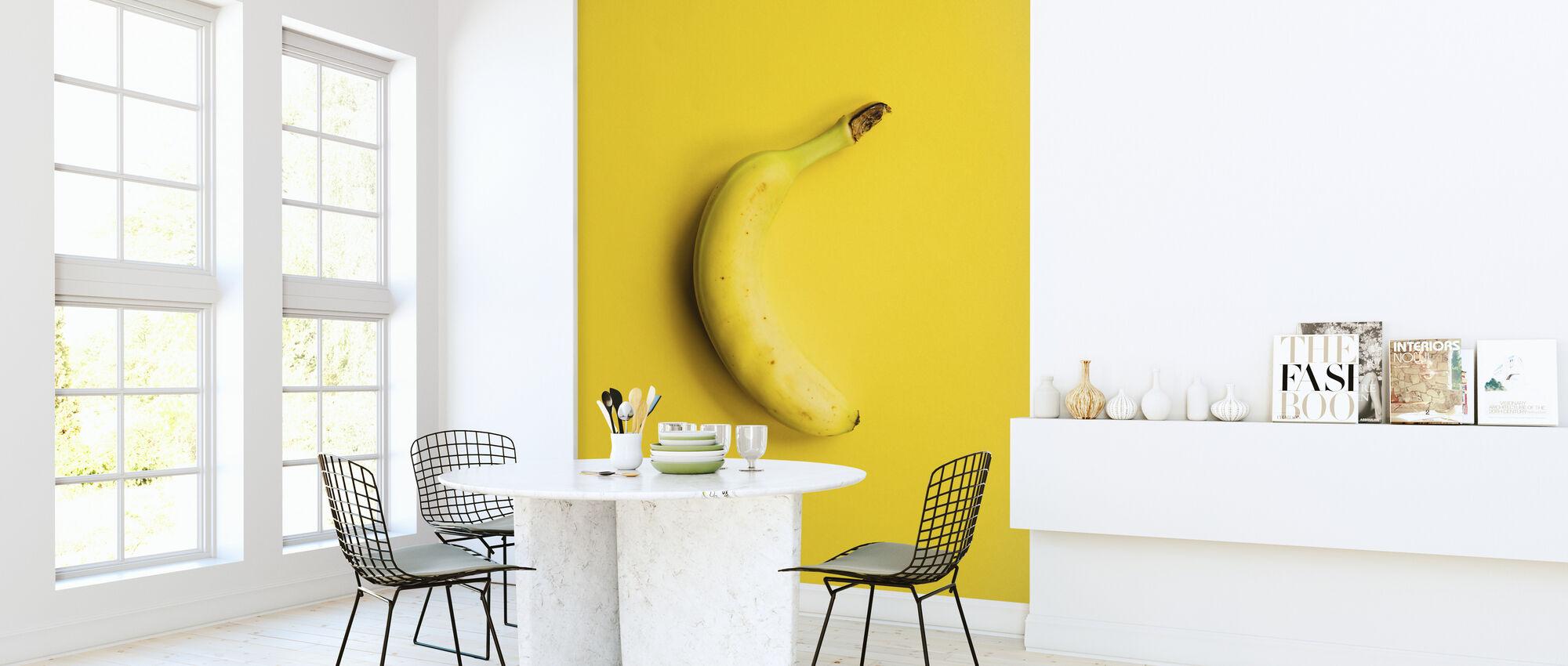 Gele Banaan - Behang - Keuken