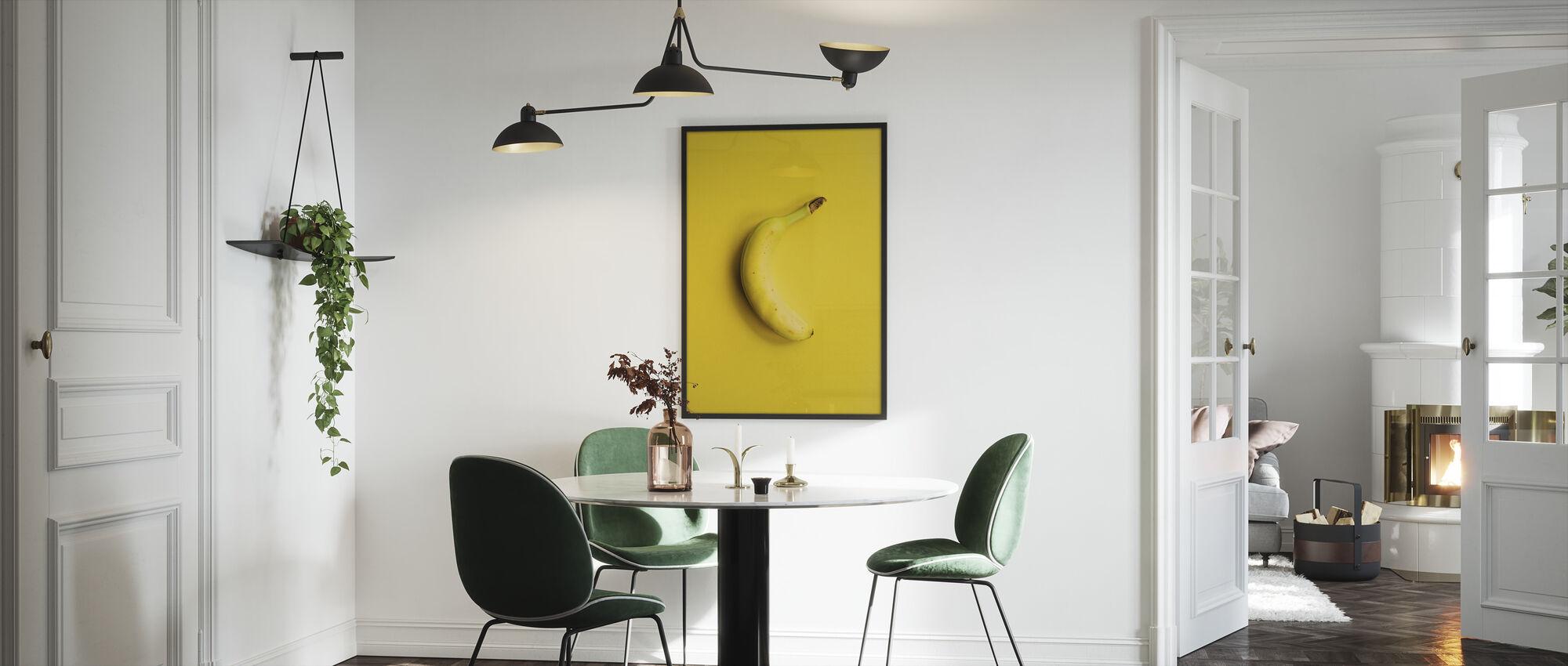 Yellow Banana - Framed print - Kitchen