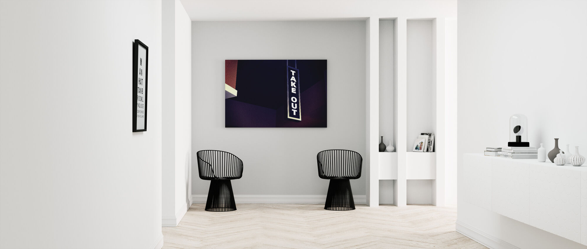 Take Out Sign - Canvas print - Hallway