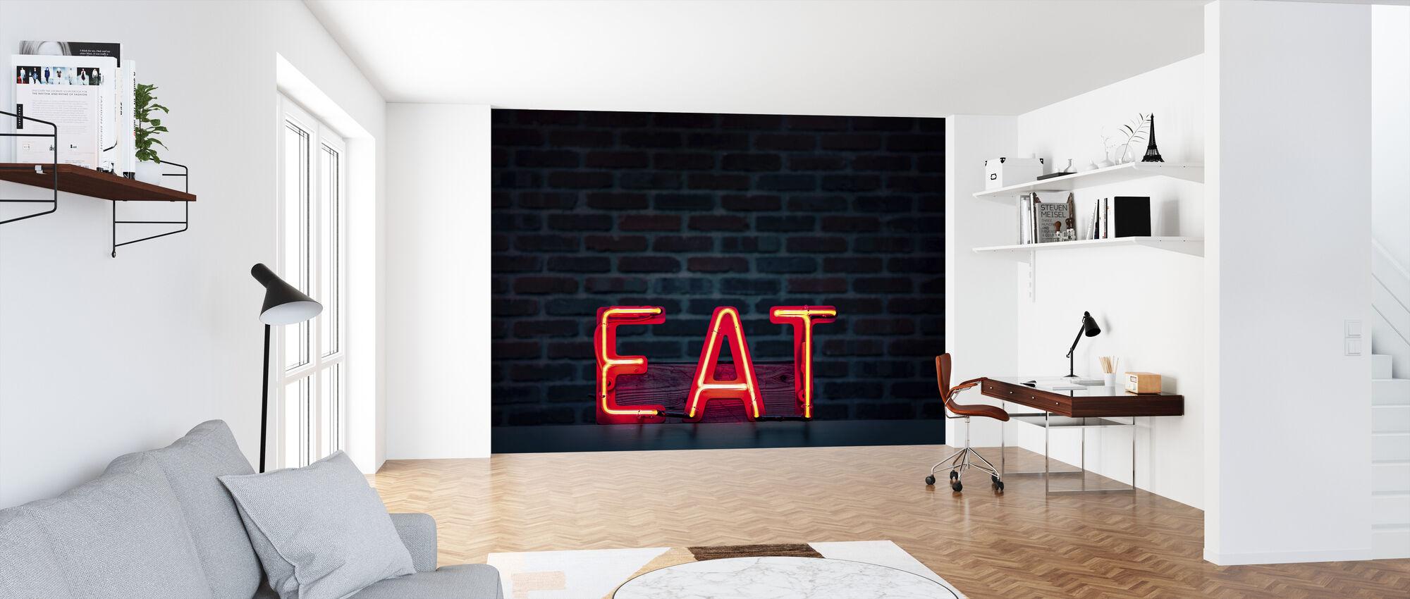 Eet Neon Sign - Behang - Kantoor