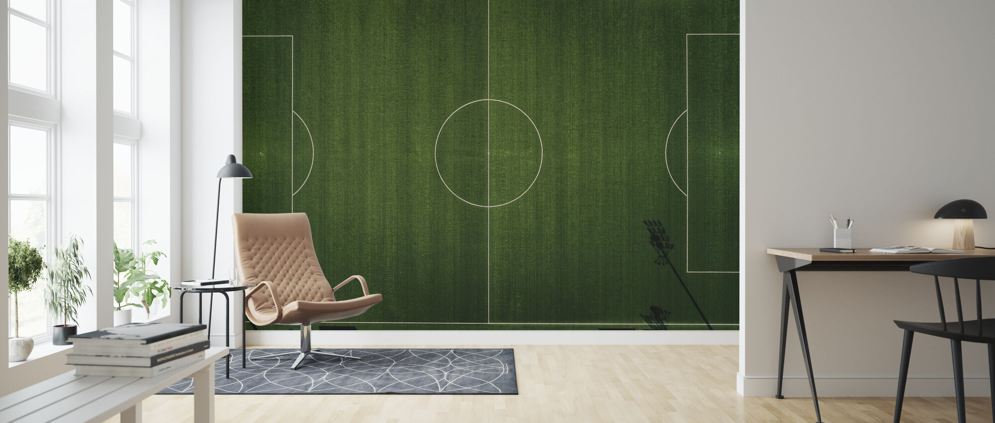 Soccer Field View - Wallpaper - Living Room