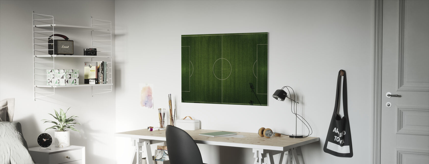 Voetbalveld View - Canvas print - Kinderkamer