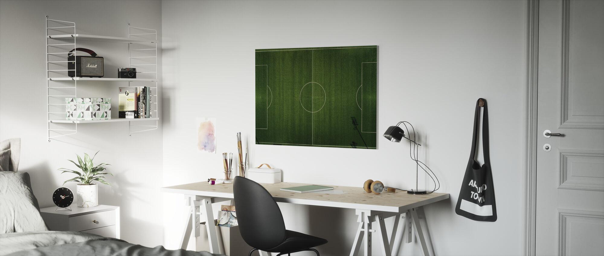 Voetbalveld View - Canvas print - Kinderkamer