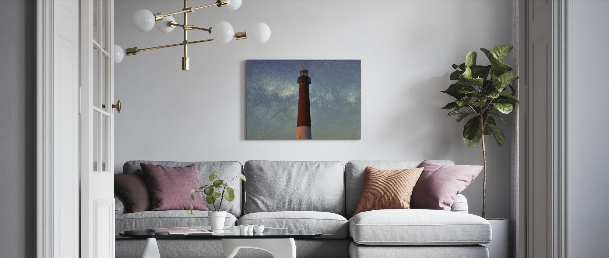 Lighthouse and the Sky - Canvas print - Living Room