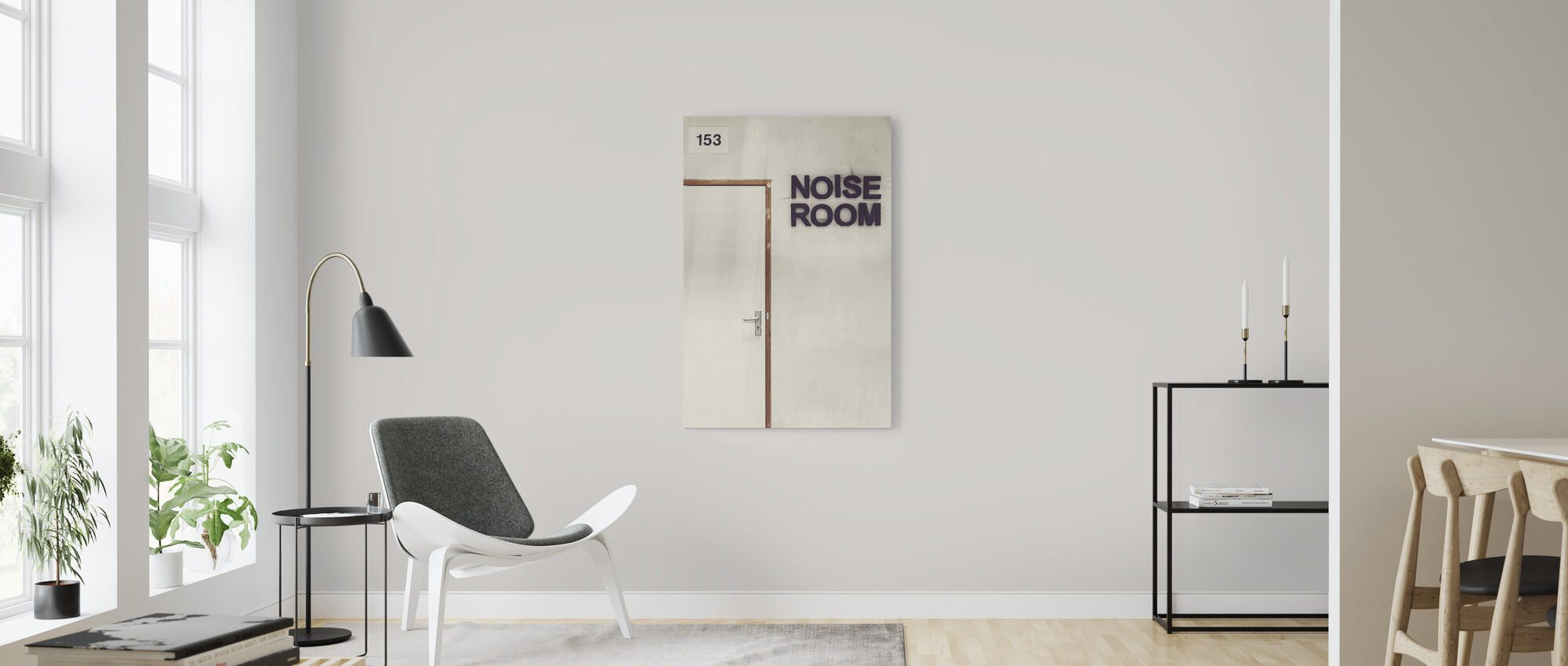 Noise Room Door - Canvas print - Living Room