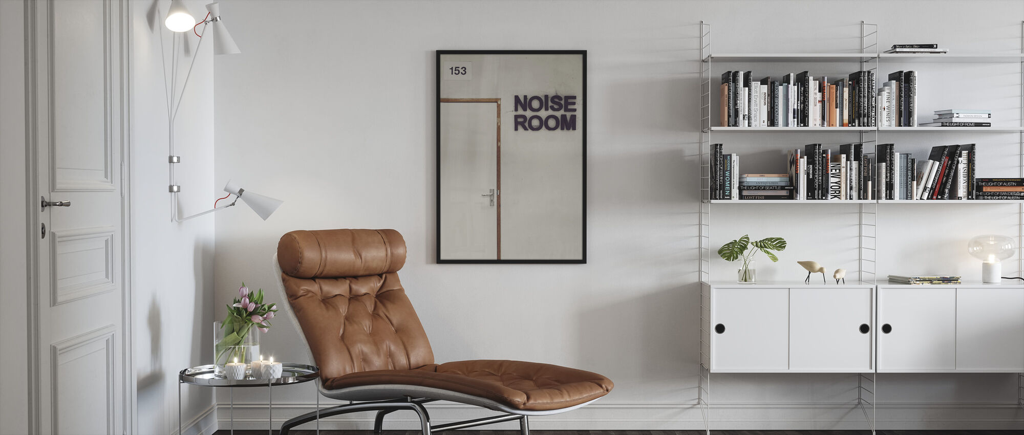 Noise Room Door - Framed print - Living Room