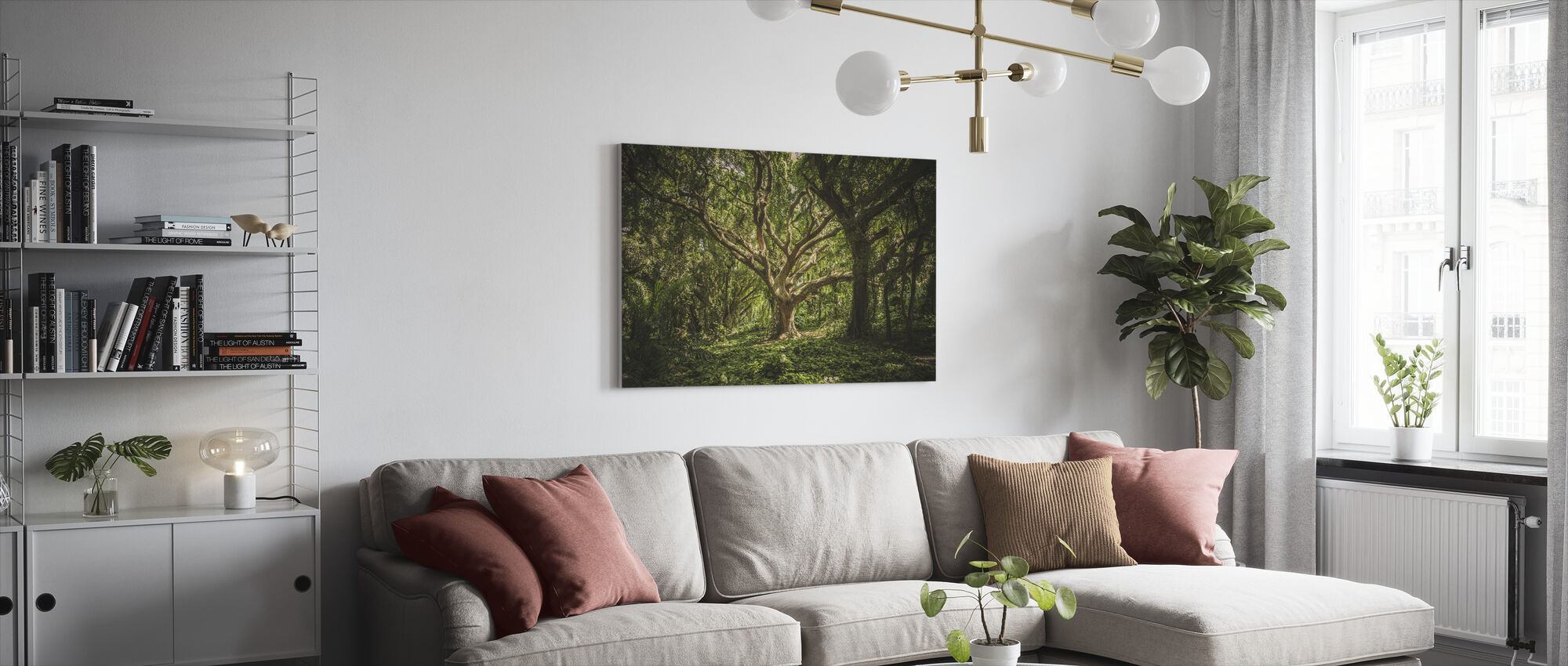Big Forest Tree - Canvas print - Living Room