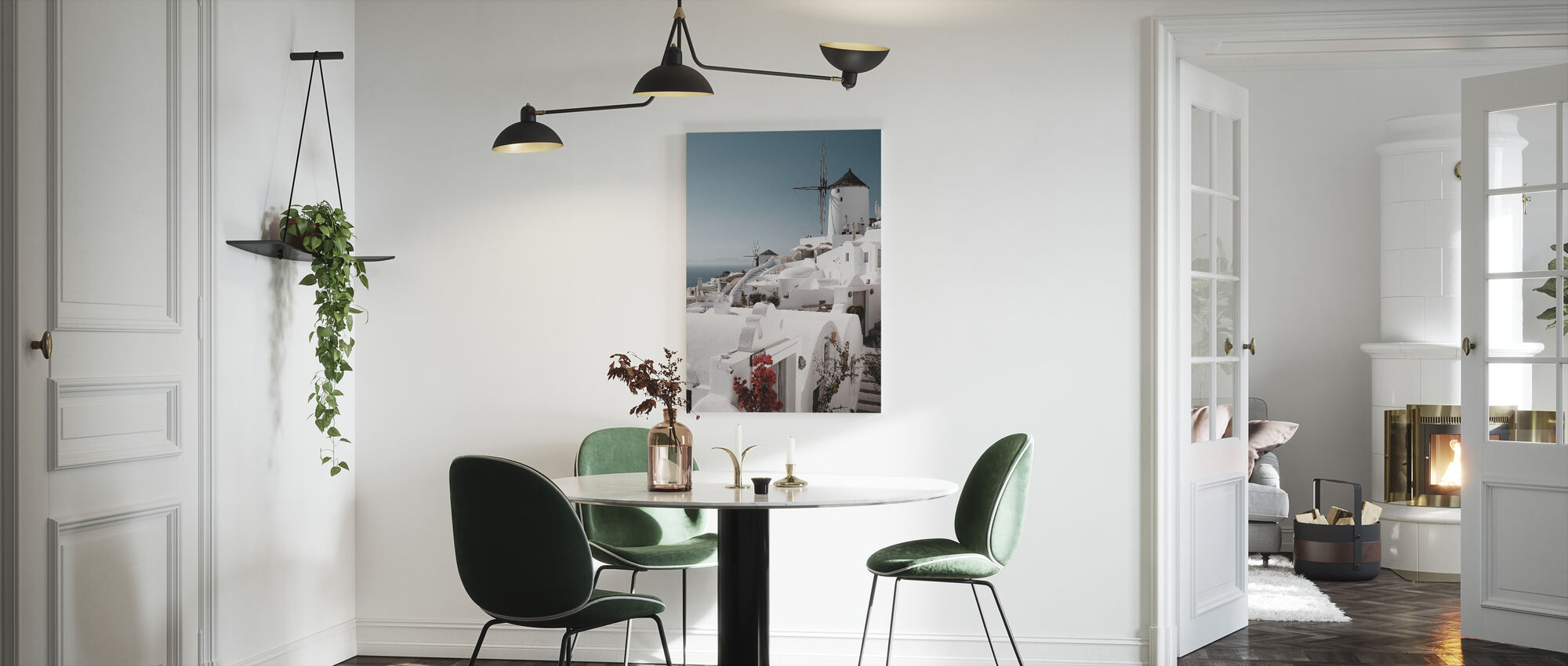 White on White - Canvas print - Kitchen