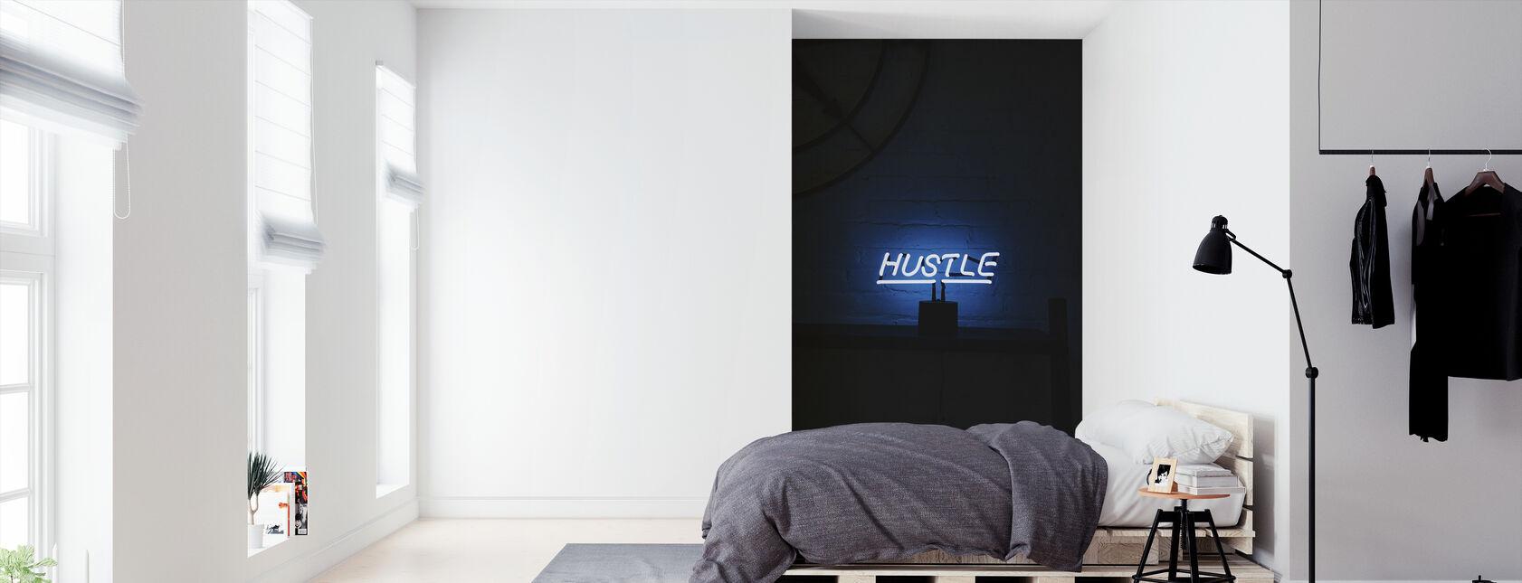 Hustle Neon Sign - Tapet - Soverom