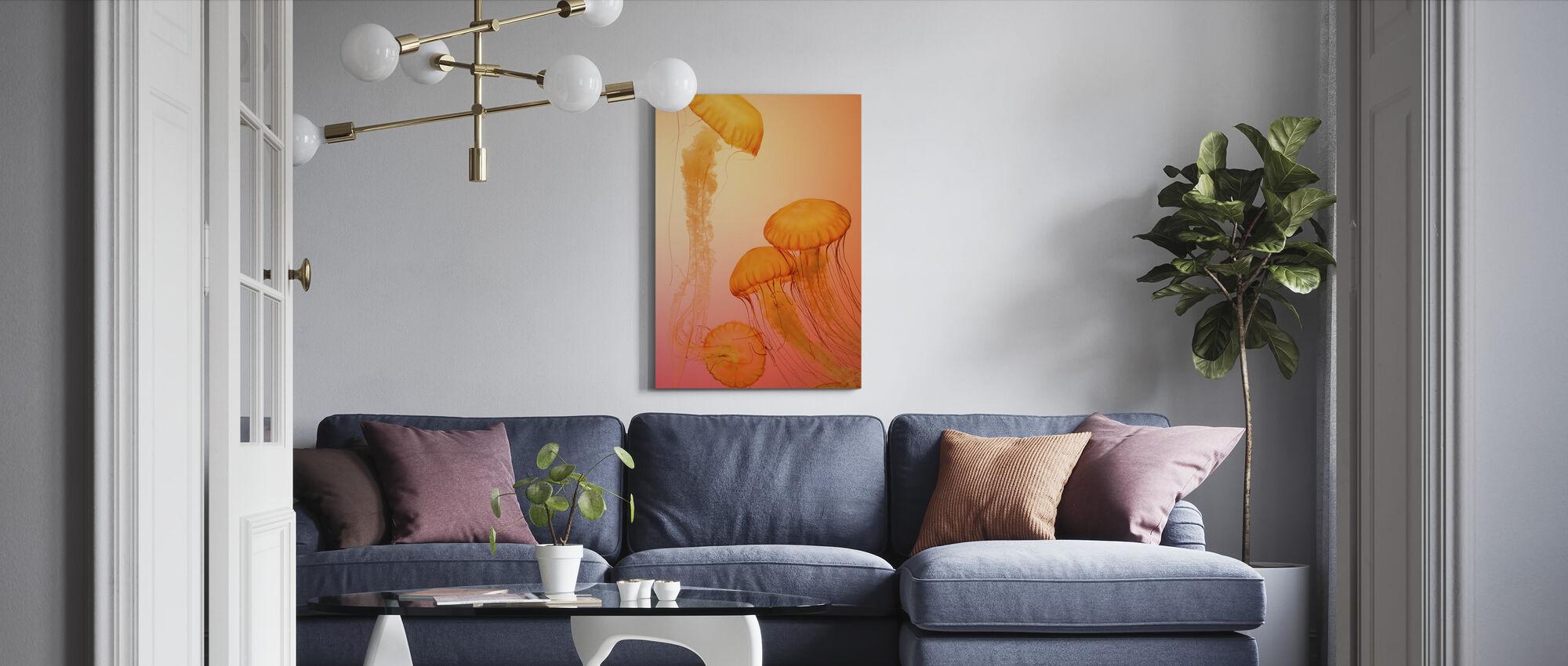Qualle - Leinwandbild - Wohnzimmer