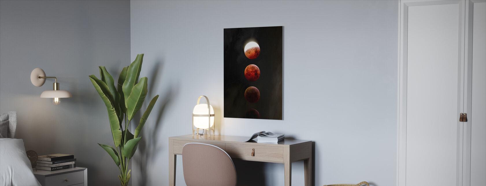 Månens formørkelse - Billede på lærred - Kontor