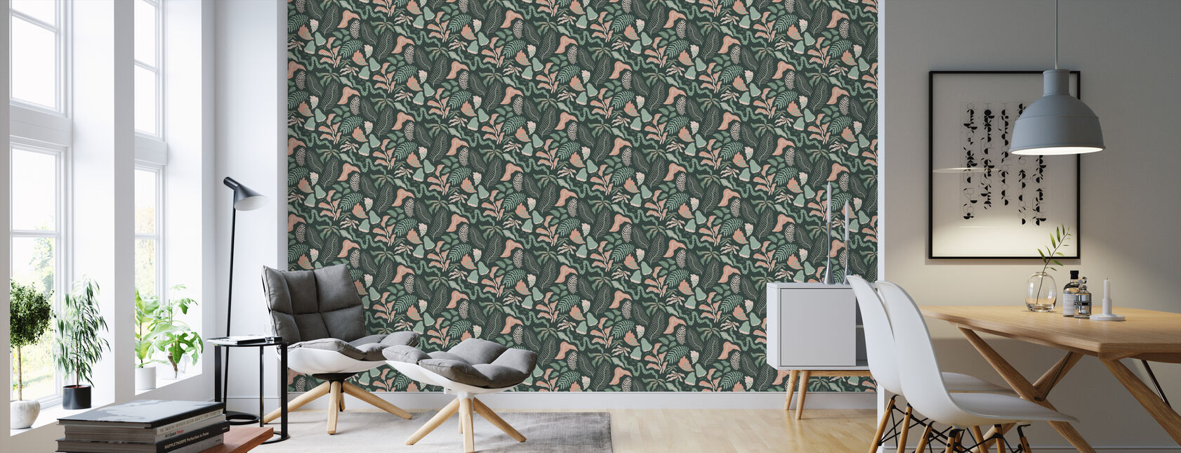 Botanica - Green - Wallpaper - Living Room