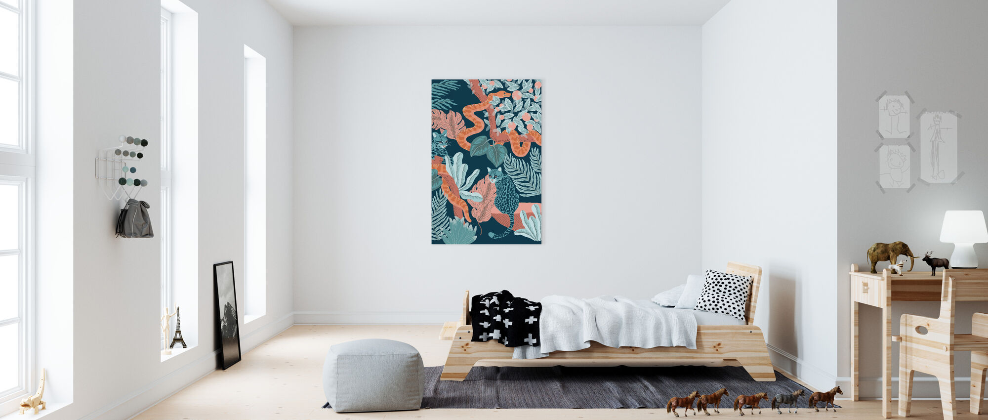 Jungle Cats - Canvas print - Kids Room