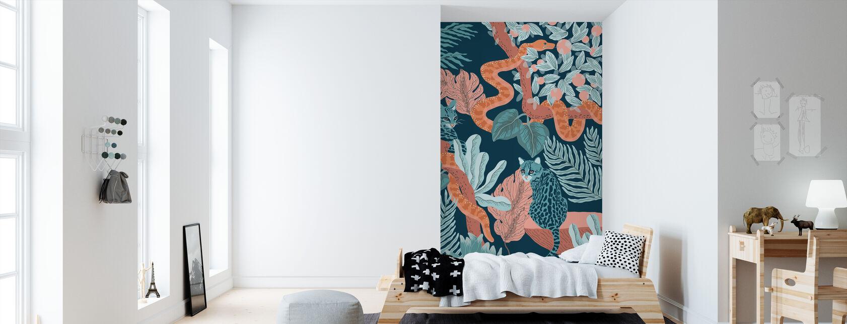 Jungle Cats - Wallpaper - Kids Room