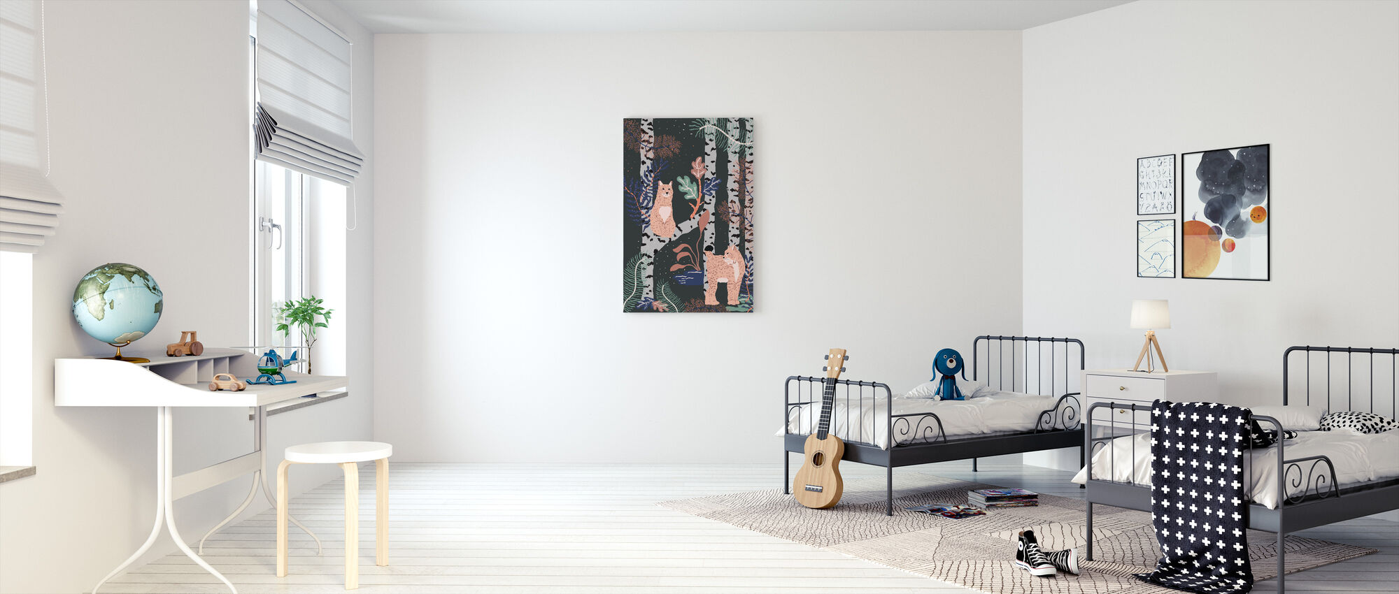 Nordic Jungle - Canvas print - Kids Room