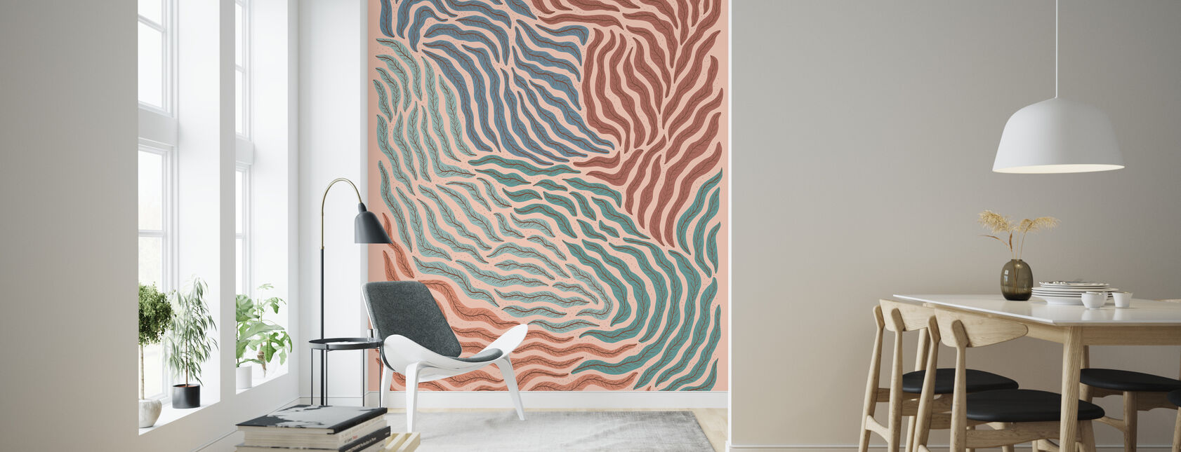 Acid - Pink - Wallpaper - Living Room