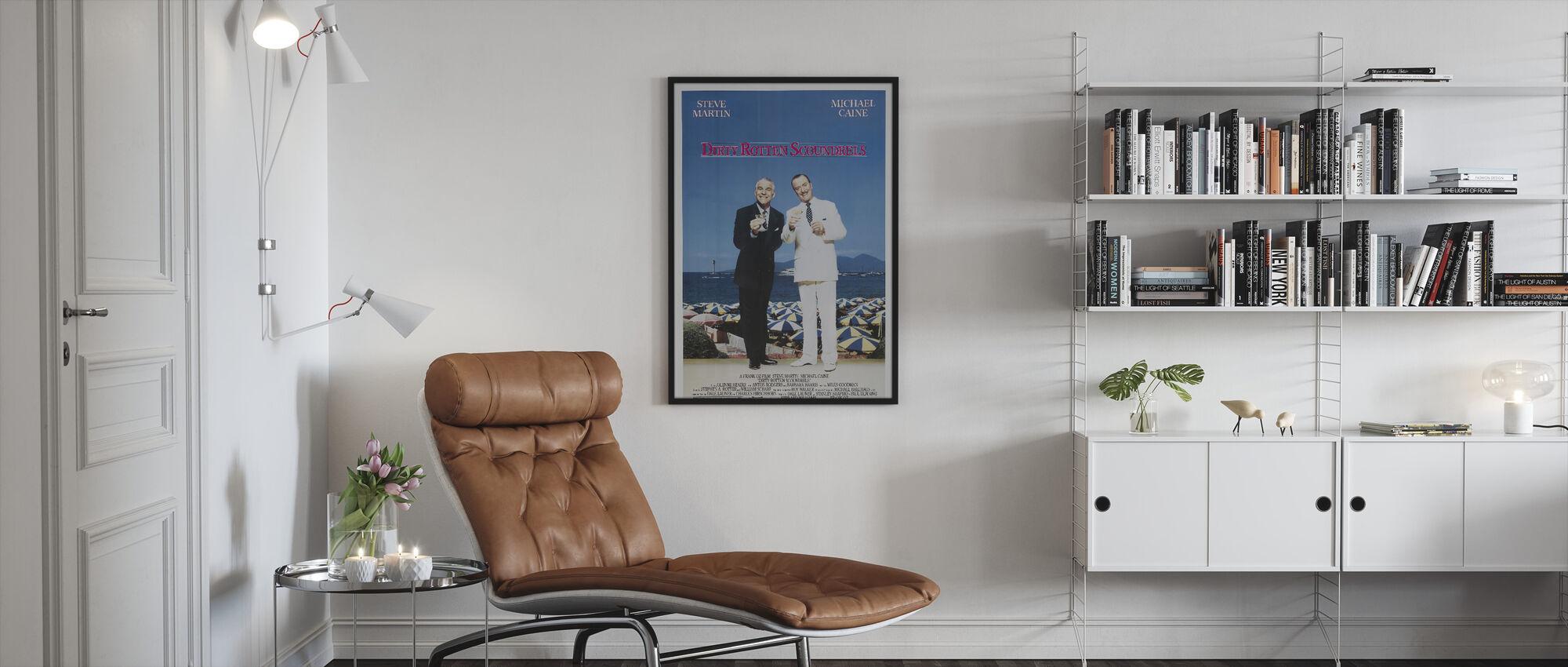 Dirty Rotten Scoundrels - Framed print - Living Room