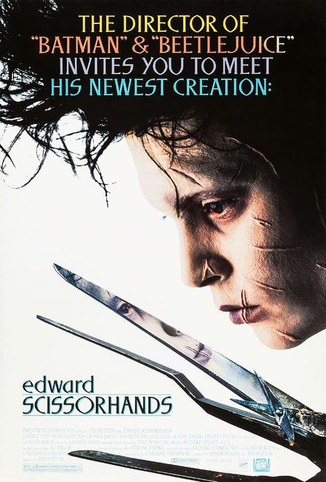 Edward Scissorhands 24x16inch Johnny Depp Movie Silk Poster Wall Decoration