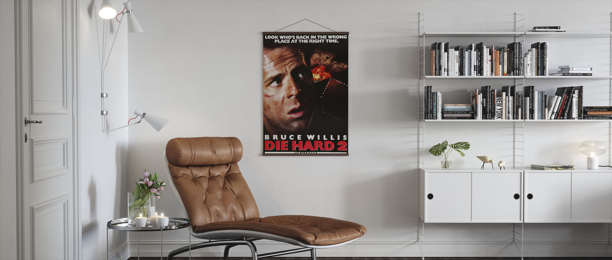 Bruce Willis in Die Hard 2 - Poster - Living Room