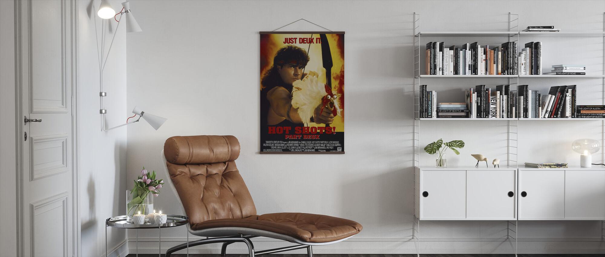 Charlie Sheen in Hot Shots Part Deux - Poster - Living Room