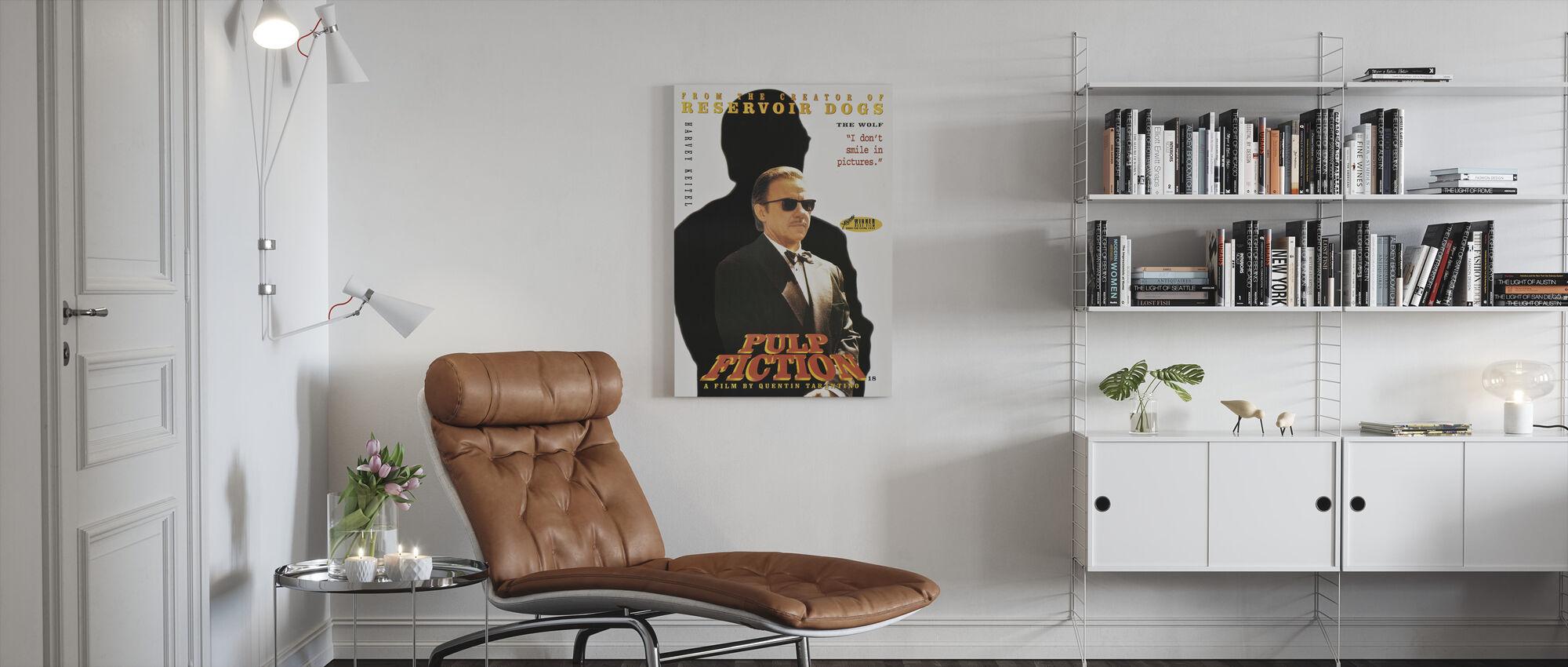 Harvey Keitel in Pulp Fiction - Canvas print - Living Room