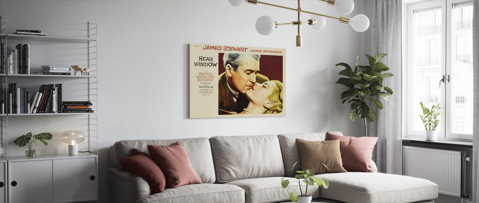 Rear Window - Canvas print - Living Room