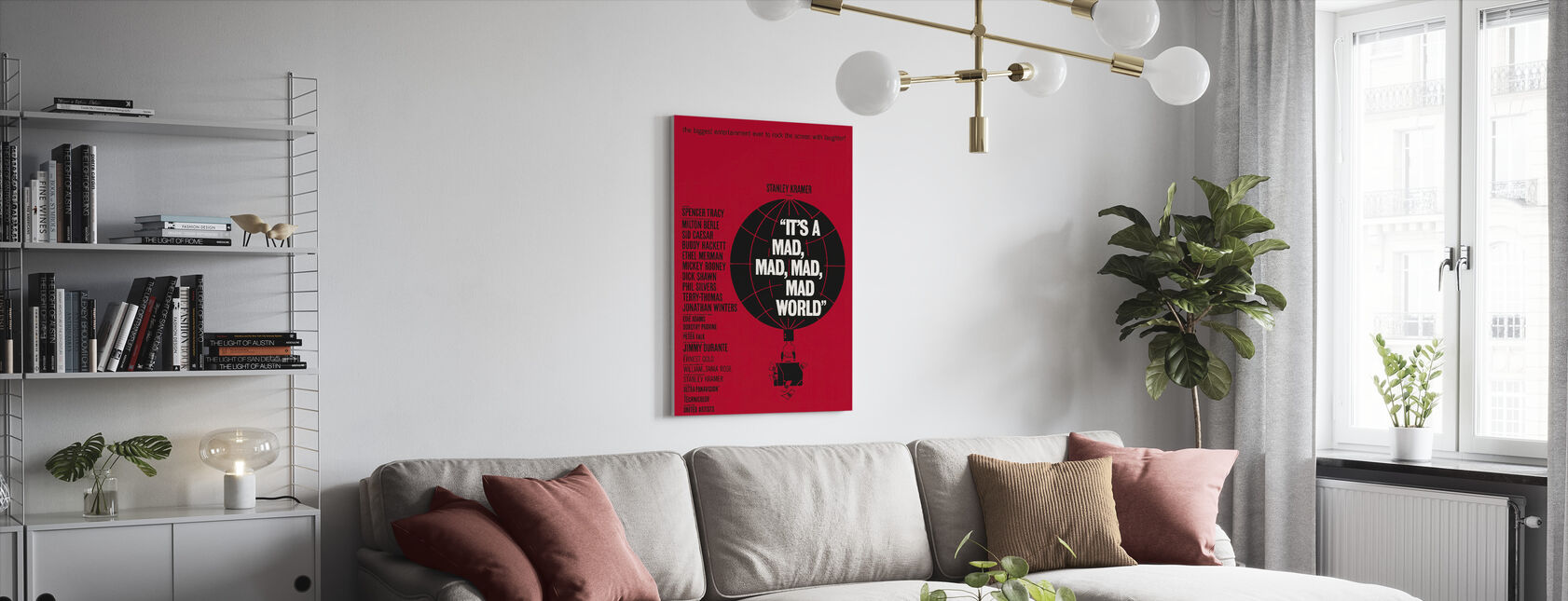 Its a Mad Mad Mad Mad World - Canvas print - Living Room