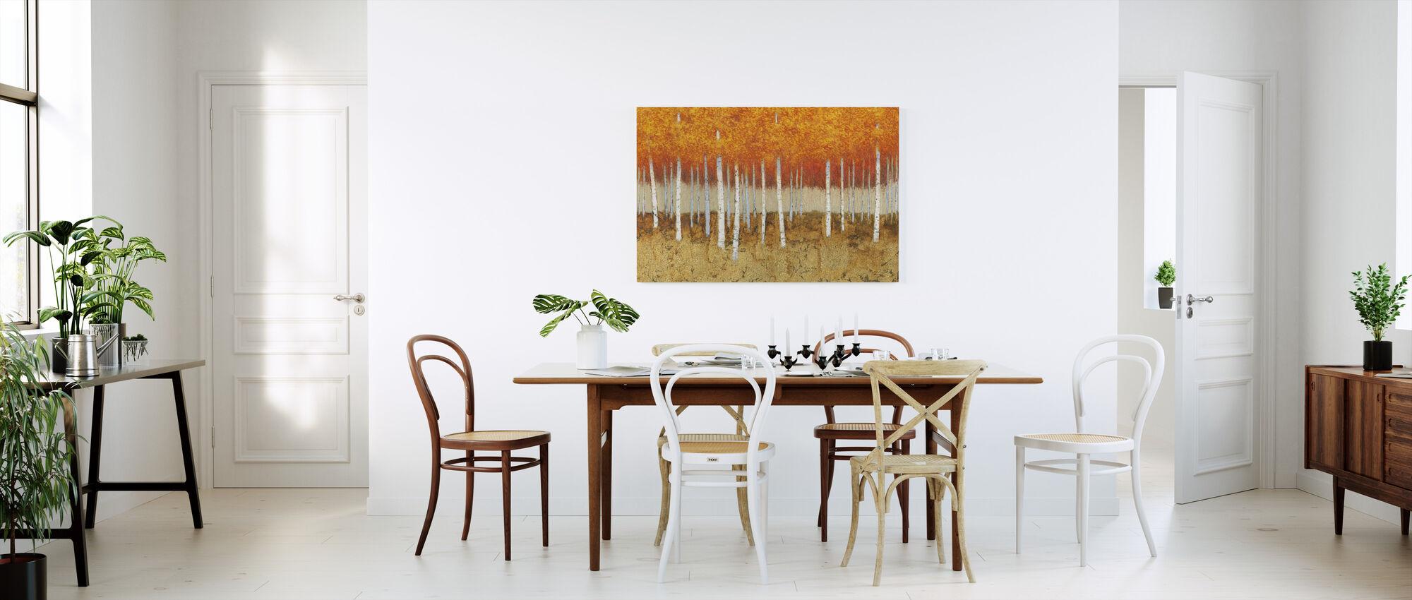 Autumn Birches - Canvas print - Kitchen