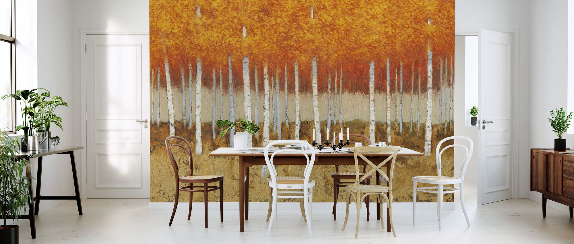 Autumn Birches - Wallpaper - Kitchen