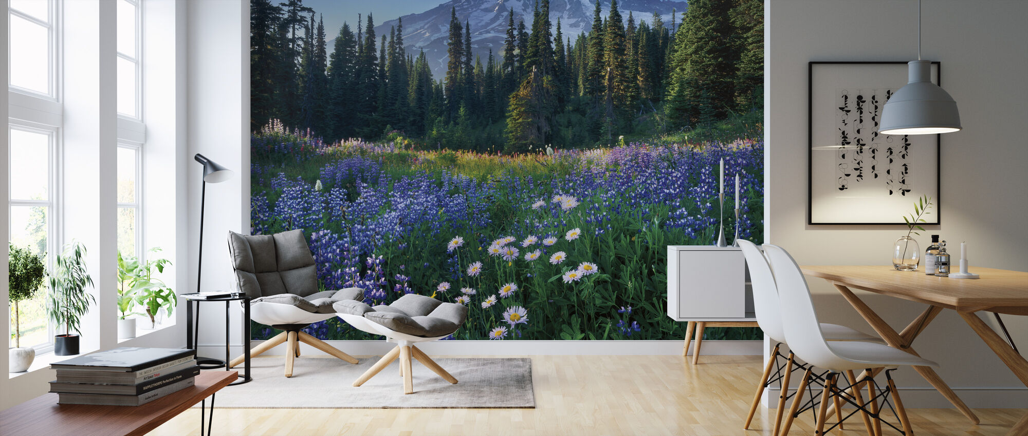Mount Rainier - Wallpaper - Living Room