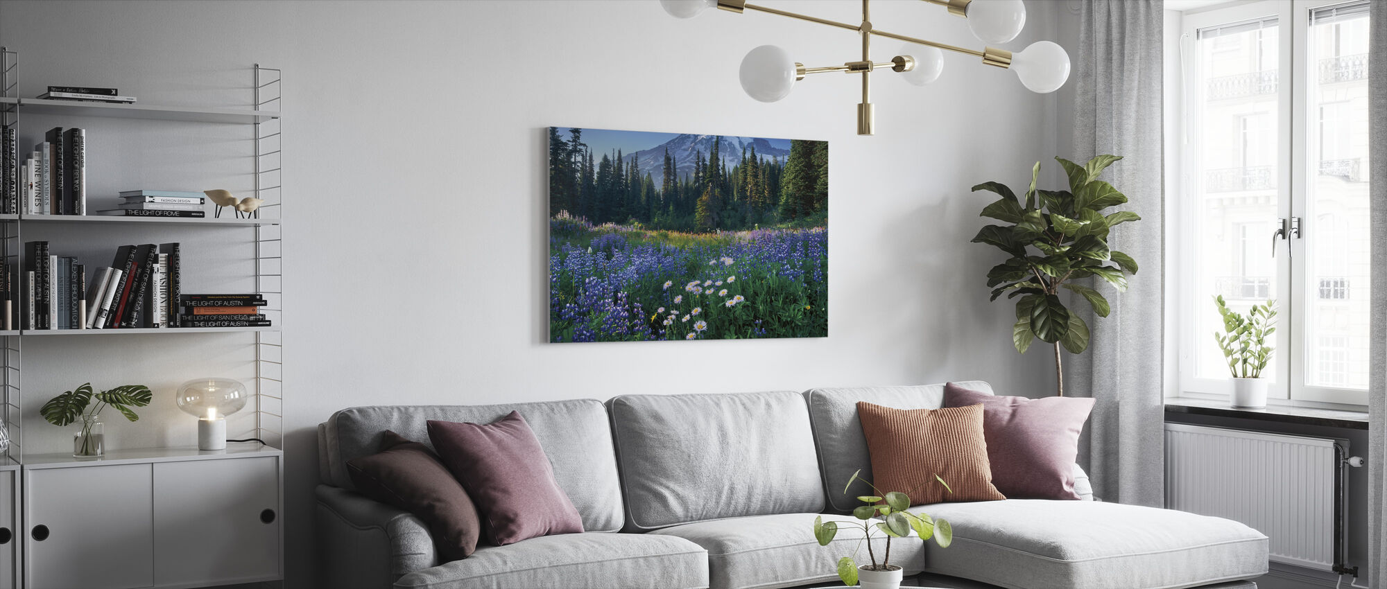 Mount Rainier - Canvas print - Woonkamer