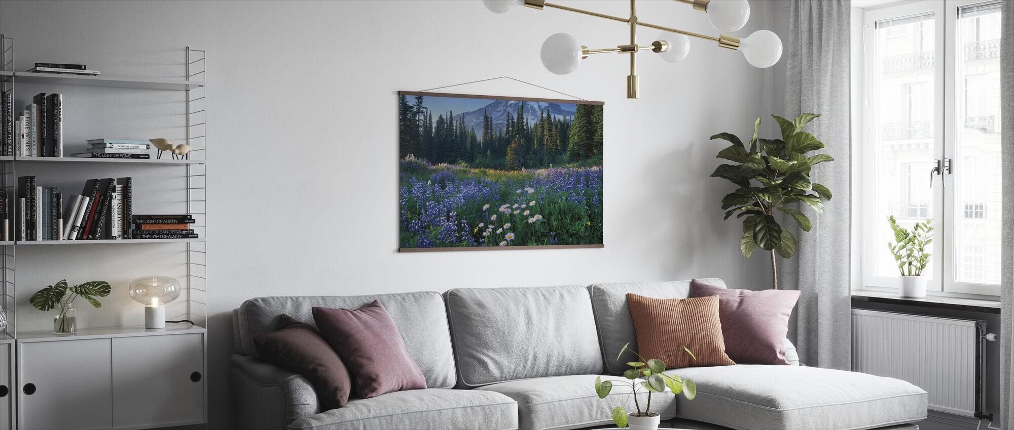 Mount Rainier - Poster - Woonkamer