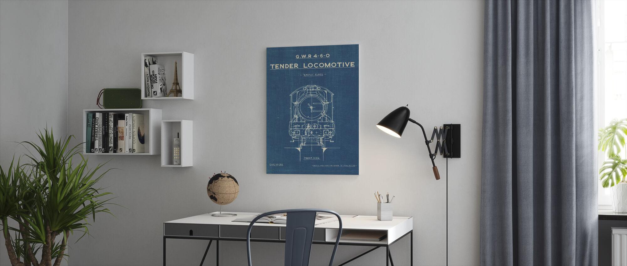 Locomotive Blueprint II - Canvas print - Office