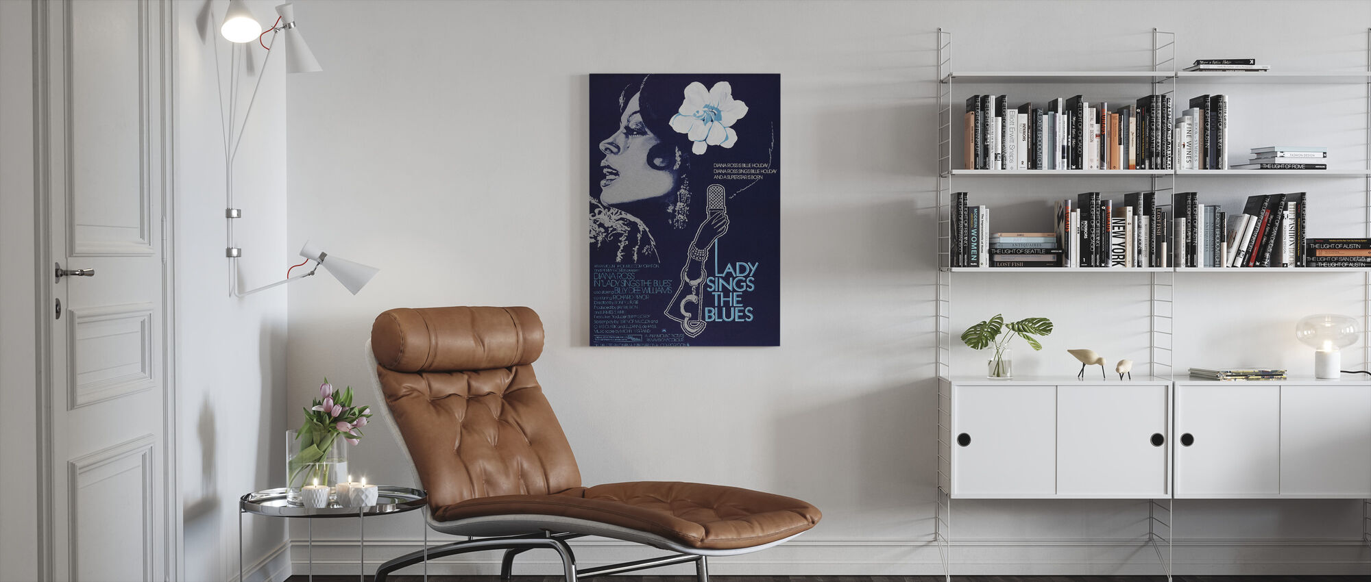 Lady Sings the Blues - Canvas print - Living Room
