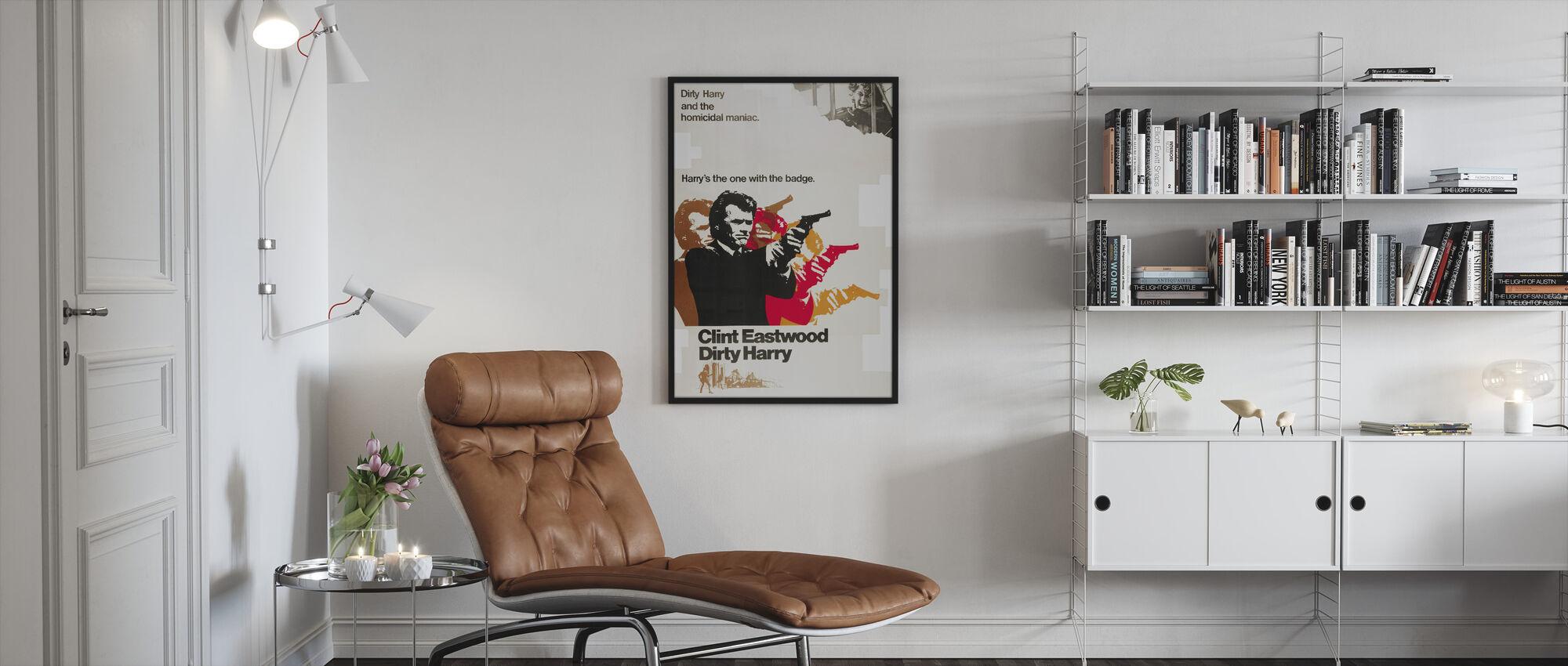 Vuile Harry - Ingelijste print - Woonkamer