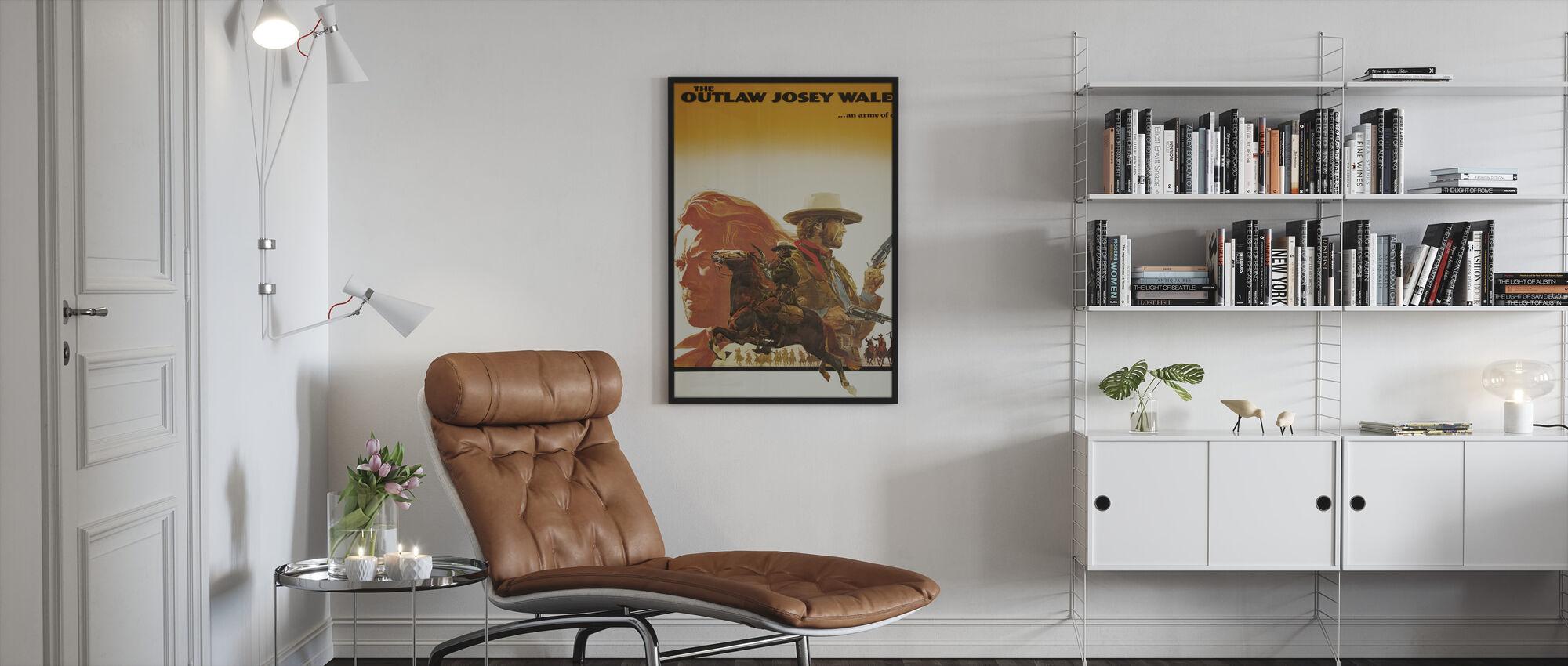 Outlaw Josey Wales - Ingelijste print - Woonkamer