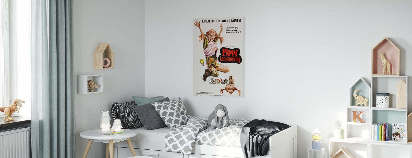 Pippi Longstocking - Canvas print - Kids Room