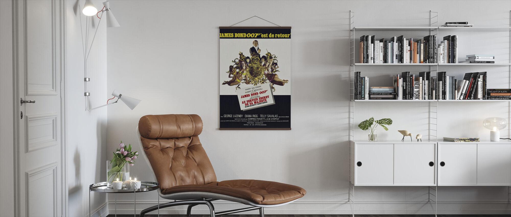 Her Majesty Secret Service - Poster - Living Room